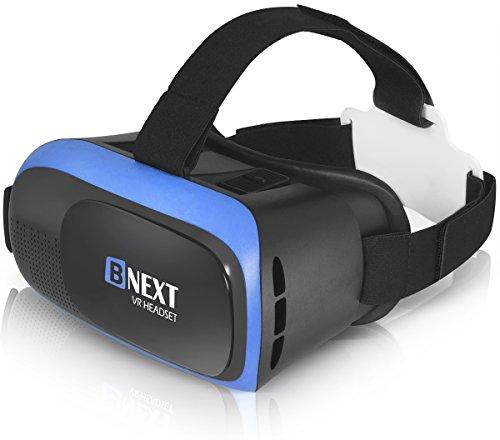 Gafas VR Compatible con iPhone y Android, Gafas Realidad Virtual para Movil - Disfruta de los Mejores Juegos y Videos RV, 360 y 3D, de Máxima Calidad y con la Mayor Comodidad (Blue)