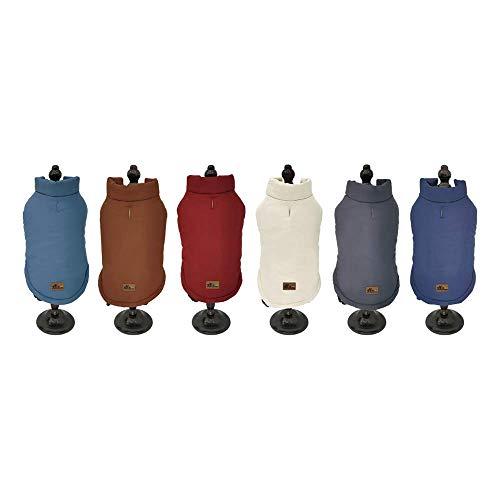BRAVO. Abrigo para Perro. Chaqueta Impermeable Resistente al Agua y al Viento con Forro Interior de algodón Suave y cálido para Perros pequeños (Talla S,M,L,XL). (Talla S, Gris)