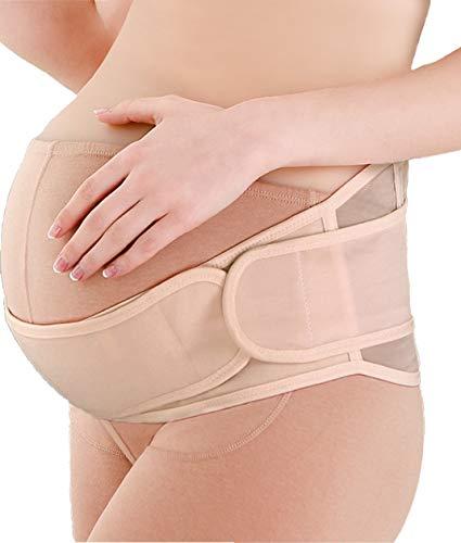 SOFIT Cinturón de Maternidad, Embarazo Cinturón, Apoyo Durante el Embarazo, Cintura y Abdomen Faja de Premamá,Cinturón Pélvico Postparto (Beige)
