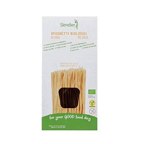 Slendier Espaguetis de Soja BIO sin gluten, pasta hipocalórica - Slendier - 200g