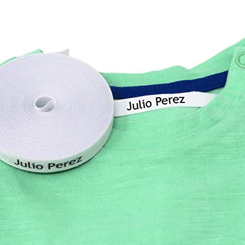100 Etiquetas termoadhesivas personalizadas para ropa (PLANCHAR). Etiquetas de tela para planchar con CERTIFICADO ECOLÓGICO ideales para niños, bebés y abuelos. NOMBRE PERSONALIZADO.