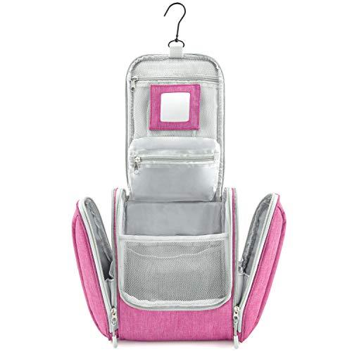 GO!elements Bolsa de Aseo para Colgar Hombres y Mujeres   Neceser cosmético Hombre Grande Mujer para Maletas y Equipaje de Mano   Neceser de Viaje, Color:Rosa