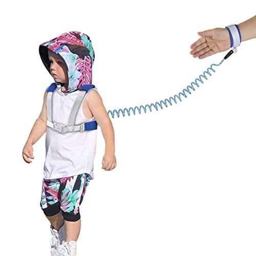 Enlace de Muñeca Antipérdida para niños Pequeños, Paquete de 2, Mochila de Muñeca con correa de Seguridad para Niños Pequeños, Correa de Cuerda Reflectante para Arnés para Caminar para Niños