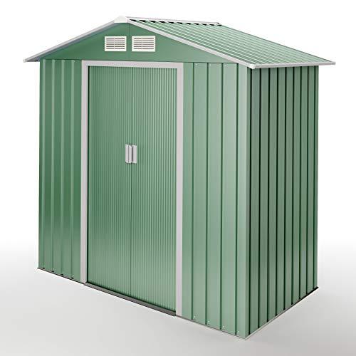 WASABI Lightgreen S Caseta metálica Verde para Almacenamiento, 2.1 m2