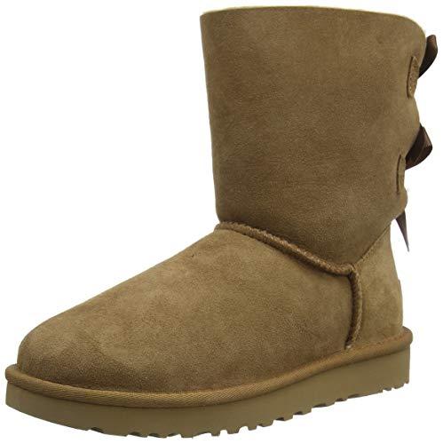 UGG Female Bailey Bow II Classic Boot, Chestnut, 40 EU