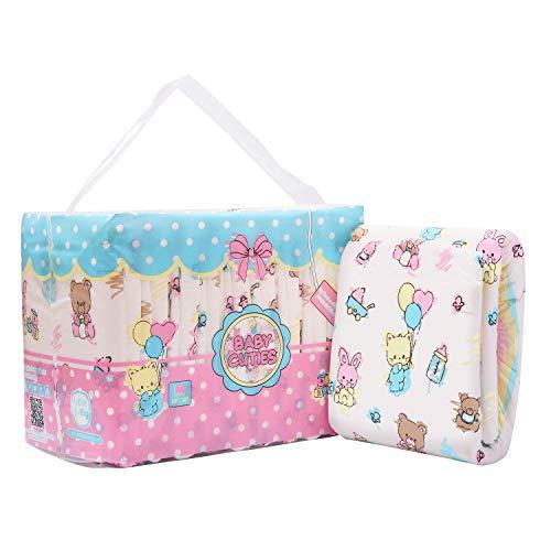 LittleForBig impresa adulto calzoncillos pañales adulto bebé amante del pañal ABDL 10 piezas-Baby Cuties M