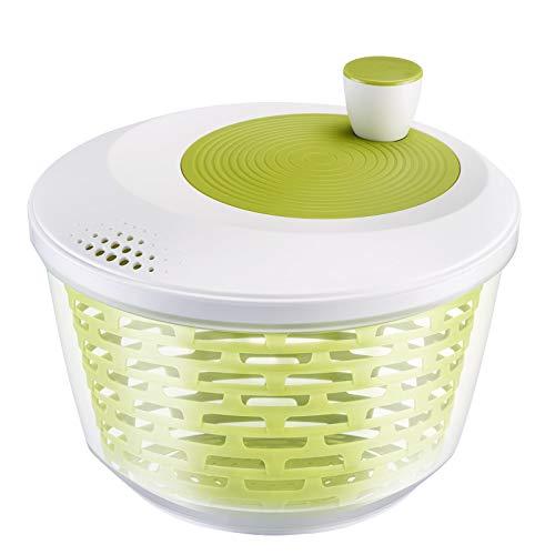 Westmark Centrifugadora de lechuga, Capacidad: 4,4 litros, ø 23,5 cm, Plástico, Sin BPA, Spinderella, Color: transparente/blanco/verde, 2430220