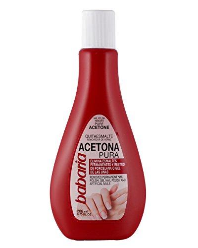 Babaria Acetona Pura Esmaltes y Geles Permanentes Quitaesmalte - 200 ml (1004-00055)