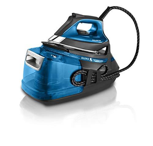 Rowenta Silence Steam Pro DG9222 Centro de planchado, autonomía ilimitada de 7,5 bares, golpe de vapor 450 g/min, vapor continuo de 140 g/min, suela Microsteam Laser 400, función Eco