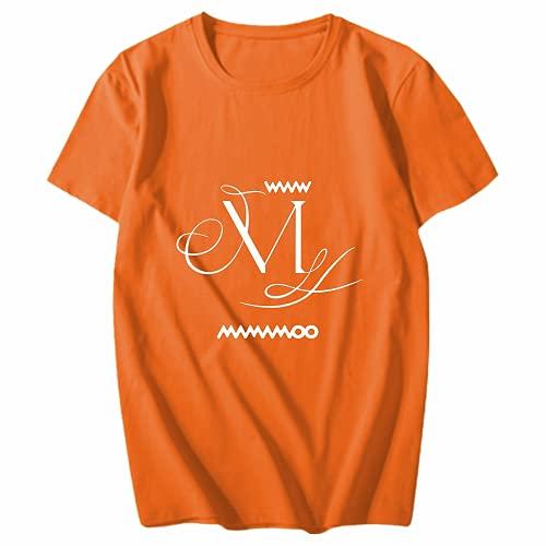 Camiseta de algodón Kpop-MAMAMOO Mini Album-WAW, utilizada para apoyar el regalo de los fanáticos de la música de la banda MAMAMOO