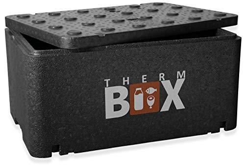 THERM-BOX Caja térmica contenedor grande GN 1/1 caja aislada de 46 litros caja térmica caja caliente caja fría caja de espuma de poliestireno en el interior: 54x34,5x24cm reutilizable