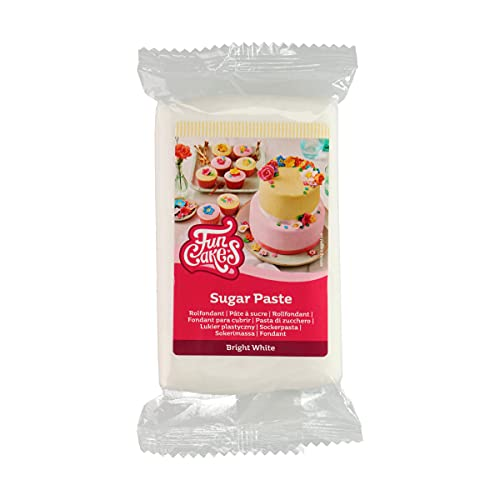 FunCakes Pasta De Azúcar Blanco Brillante 250 G