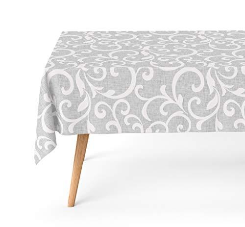 Basic Home Mantel Antimanchas Pegaso Gris 140x180 cm