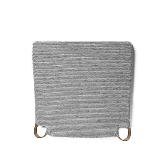 Arcoiris Pack 6 Almohadillas para sillas 40x40cm, Relleno de Fibra y Espuma, Cómodos, Resistentes, Fácil de Limpiar, para Cocina, Cuarto, Sala, Jardín, Terraza, Patio (Gris, Fantasy)