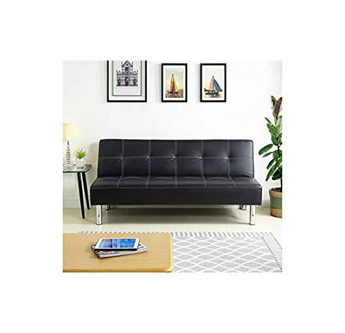 Hogar 24 Sofá Cama Clic clac Tapizado En Piel Ecológica, Color Negro Simply