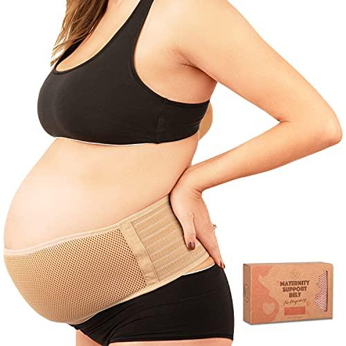 KeaBabies Banda De Maternidad para El Embarazo - Cinturón De Soporte para Embarazo Suave & Transpirable - Bandas De Soporte Pélvico