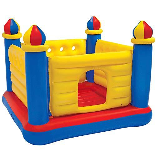 Intex 48259NP - Castillo hinchable INTEX, 175x175x135 cm, suelo hinchable, Para 2 niños, Peso máximo 45 Kg, Color rojo, amarillo y azul, Castillos hinchables infantiles