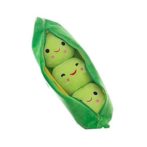WWZL Peluches Soft Dolls Pea Pod Pillows Plush Dolls 3 Guisantes en El Interior Juguetes Lindos Creativos Niños,Verde,70cm