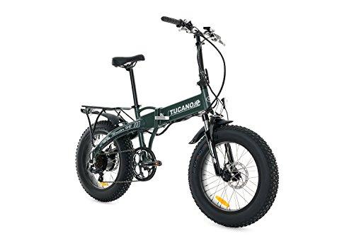 Tucano Bikes Monster HB Bicicleta Eléctrica Plegable, Verde (Mate), Talla Única