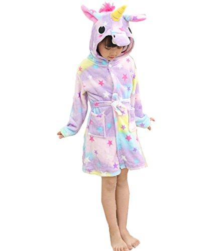 Z-Chen Bata para niños - Forma de Unicornio, Estrella, 4-5 Años, (Tamaño de Manufactura 105/120)