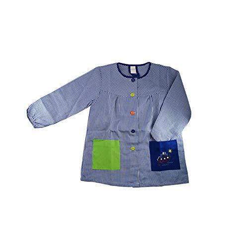 Kiz Kiz Bata Escolar Infantil Baby Infantil de Cuadros Pequeños (Azul, 2-3 años)