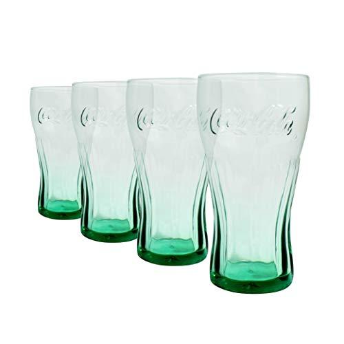 Coca Cola verde gafas 16oz/460ml–juego de 4  gafas de Coca Cola