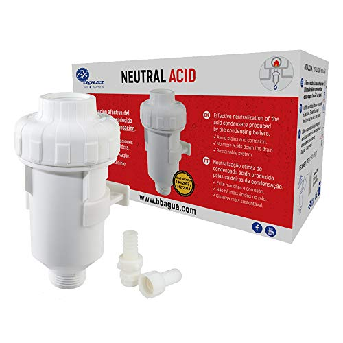 Filtro Neutral Acid. Neutraliza el condensado de ácido producido por la caldera. Bbagua GS300005