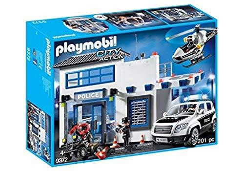 PLAYMOBIL Policía- Mega Set, Multicolor, única (9372)