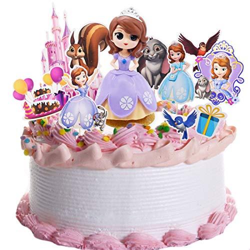 Princesa Sofia Cake Topper - YUESEN 11 piezas Sofia Decoración Torta Cupcake Niños Juguetes Baby Shower Fiesta de cumpleaños Pastel Decoración Suministros