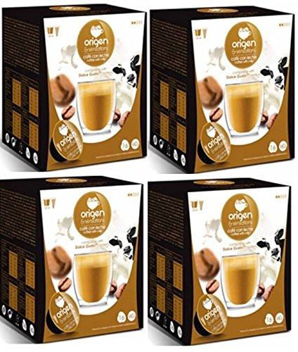 Cápsulas Compatibles Dolce Gusto* Origen Sensations Café Con Leche 64 bebidas