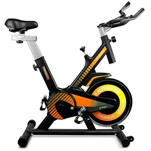 gridinlux. Trainer Alpine 6000. Bicicleta estática Ciclo Indoor. Volante Inercia 10 kg, Regulación Total de Intensidad. Pantalla LCD con pulsómetro. Fitness