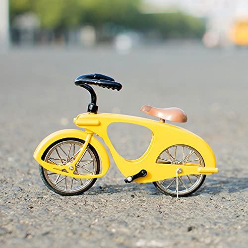 ADISVOT 1:14 aleación Lindo Modelo de Bicicleta de Palma Adorno de Coches Regalo de cumpleaños para niños niñas Amantes de la Bicicleta-4 Pulgadas