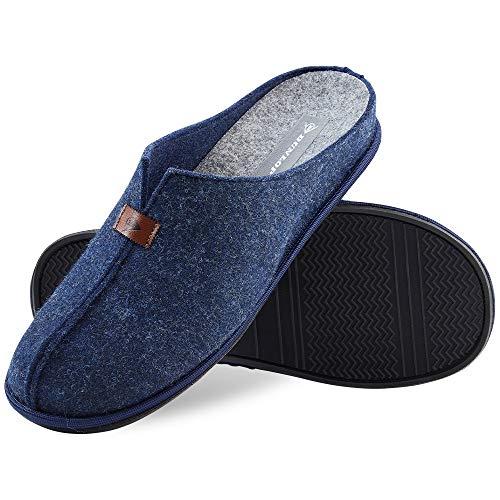Dunlop Zapatillas Casa Hombre, Zapatillas Hombre Forro de Felpa, Pantuflas Hombre Suela Antideslizante, Regalos Para Hombre y Adolescentes Talla 41-46 (43, Azul, numeric_43)