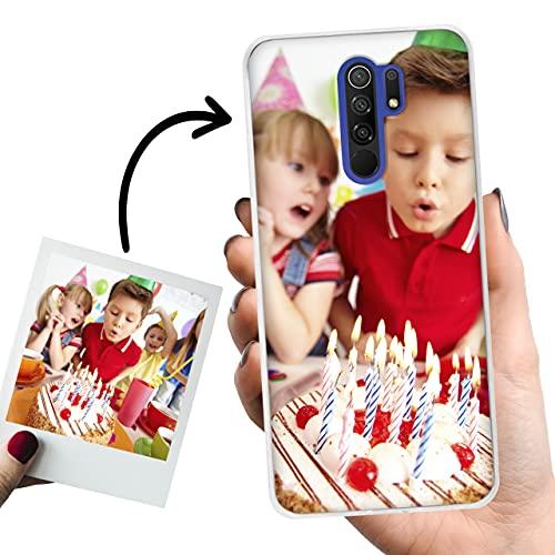 Phone Case Trends Funda Xiaomi Redmi 9 Personalizada con Foto o Texto – Carcasa Personalizable de Gel Flexible para Móvil - Funda Transparente, Antigolpes y de Silicona - Impresión Directa en Funda