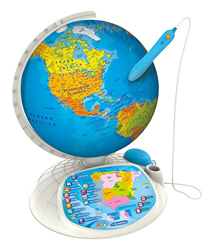Clementoni Explora El Mundo 55117 Globo Terráqueo Interactivo, Idioma Español