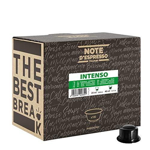 Note d'Espresso - Intenso - Cápsulas de Café para las Cafeteras CAFFITALY* - 100 caps