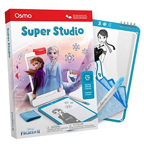 Osmo Essence Osmo – Super Studio Disney Frozen 2 Juego – Edades 5 – 11 – Aprende a dibujar Elsa, Anna, Olaf y más favoritos y ver cómo vienen a la vida – para iPad y Fire Tablet Base requerida