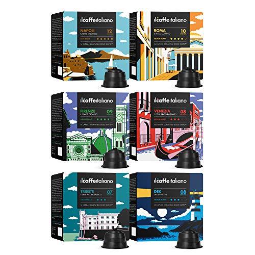 FRHOME - 96 Cápsulas de café compatibles con maquinas Dolce Gusto - kit degustación de Il Caffè Italiano