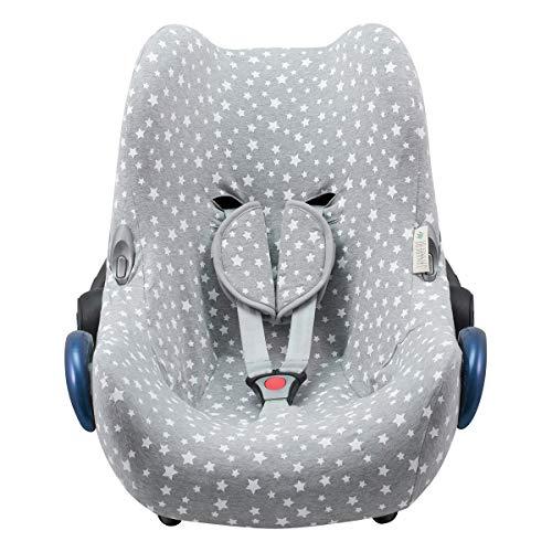 JANABEBE Funda compatible con Maxi Cosi Cabriofix, silla de coche gr 0 (White Star)