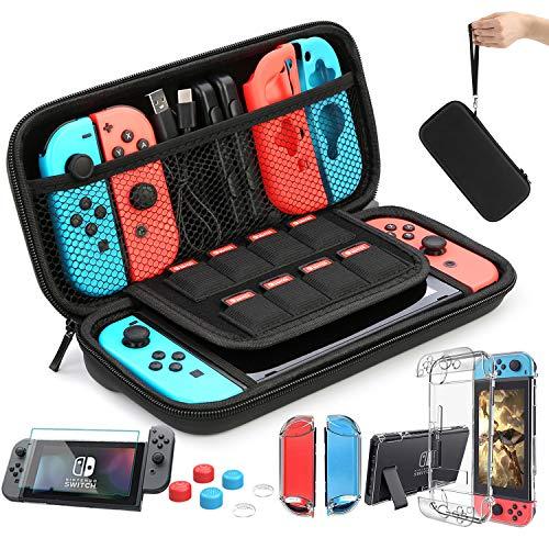 HEYSTOP Accesorio Compatible con Nintendo Switch Funda Compatible con Nintendo Switch Funda de Transporte para Nintendo Switch Protector de Pantalla Apretones de Pulgar