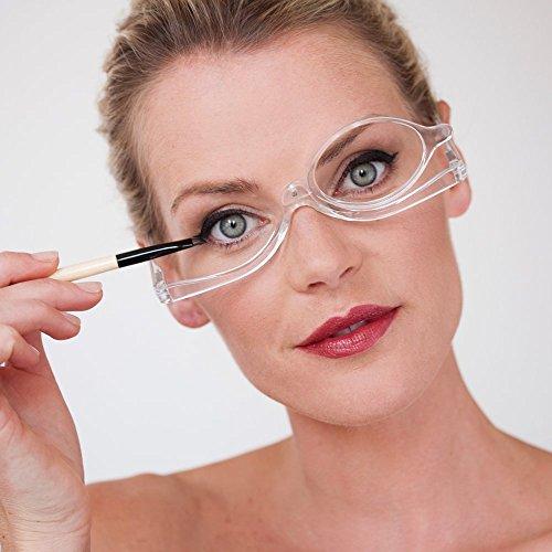Gafas de Maquillaje by NORDIC VISION   Gafas Para Maquillarse con Lente Abatible   Gafas Para Ayudarte con el Maquillaje con Funda Elegante Gratuita   Varias Dioptrías (3.50)