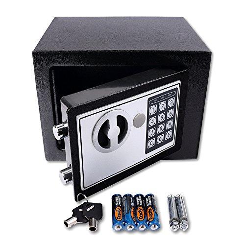 Schramm Caja Fuerte electrónica 23x17x17cm Caja Fuerte de Muebles Caja Fuerte de Pared con Cerradura de combinación Digital