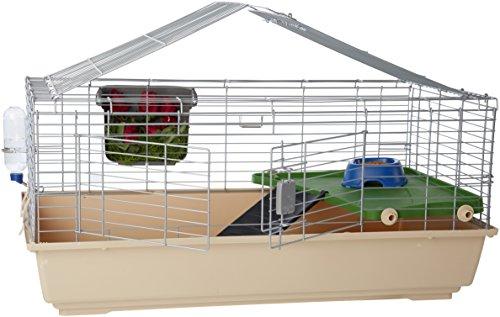 Amazon Basics - Hábitat de jaula para animales pequeños con accesorios, 107 x 48,7 x 61,5 cm, grande