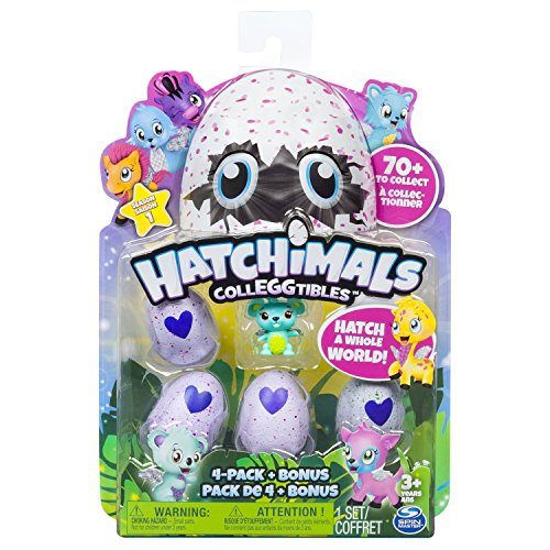 Bizak Hatchimals pack de 4 figuras coleccionable, color surtido, 4 unidades (61921915)