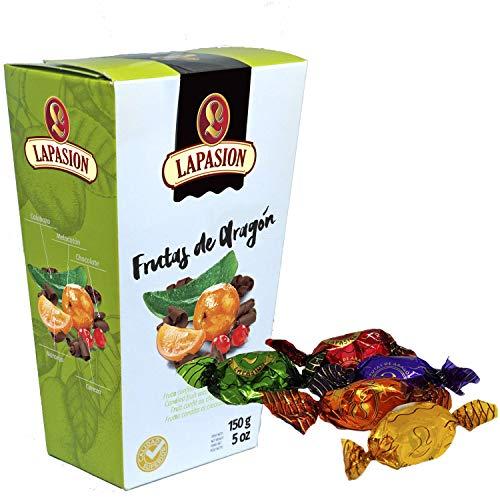 LAPASION Frutas de Aragon Bañadas en Cobertura de Chocolate, 150 g