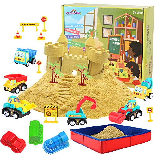 CROSOFMI Arena Magica Niños Playa Juegos Coche de Juguete Caja de Arena Plegable Adecuado para Niños Mayores de 3 Años